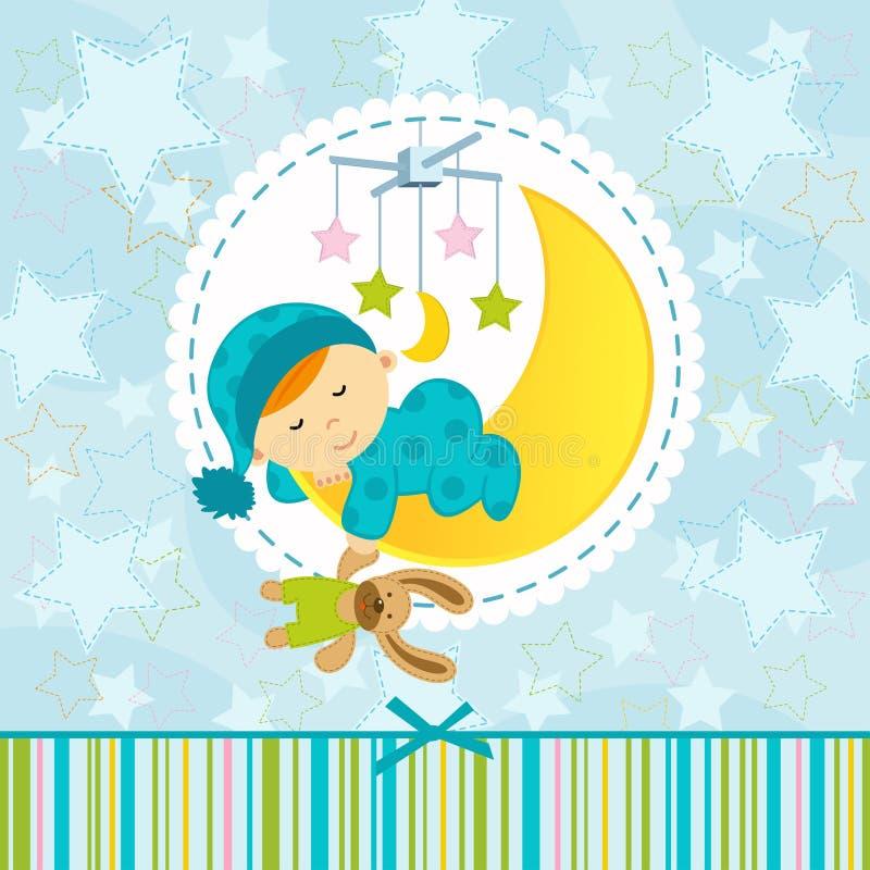 De slaap van de babyjongen royalty-vrije illustratie