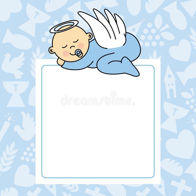 de slaap van de babyjongen vector illustratie