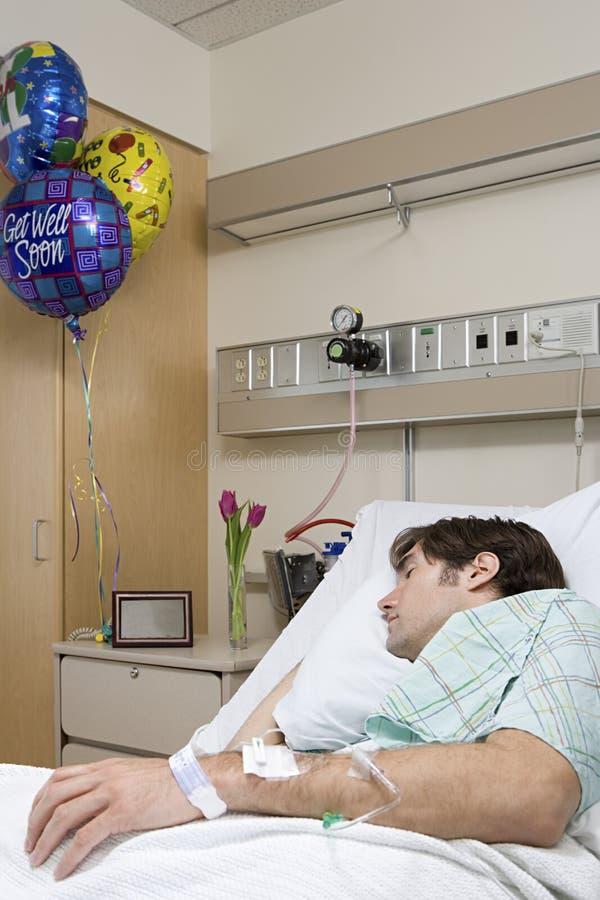 De slaap van de het ziekenhuispatiënt royalty-vrije stock afbeelding