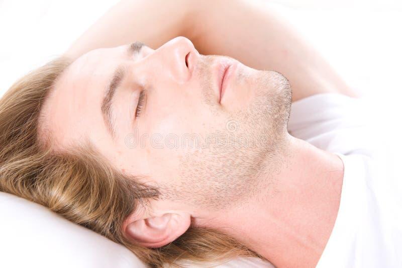 De Slaap van de jonge Mens stock foto