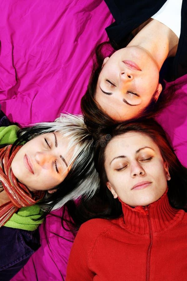 De Slaap van de Vrienden van vrouwen stock afbeelding