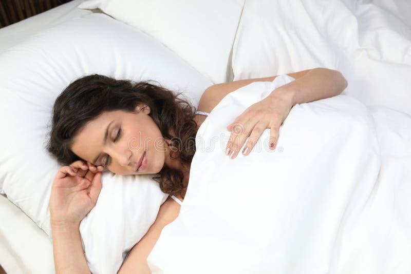 De slaap van de vrouw royalty-vrije stock foto