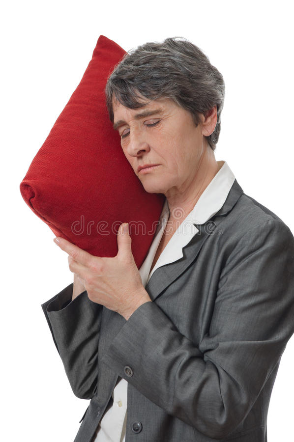 De slaap van de vrouw stock afbeelding