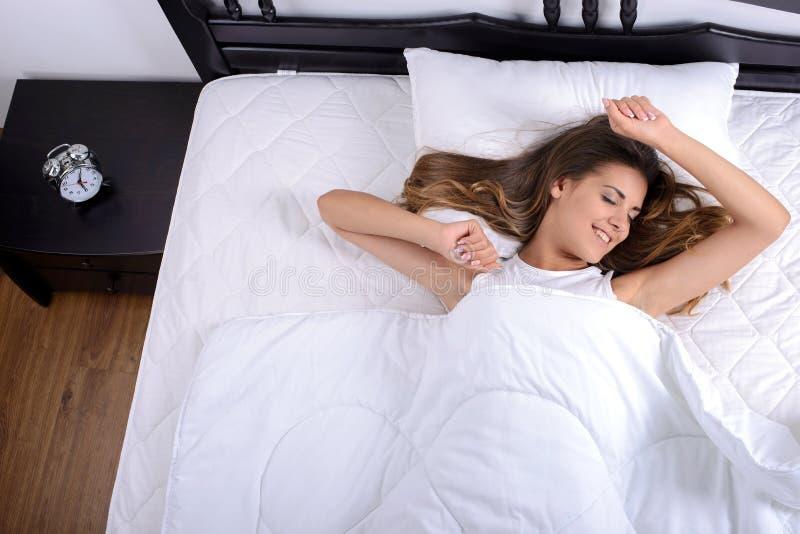 De slaap van de vrouw royalty-vrije stock foto's