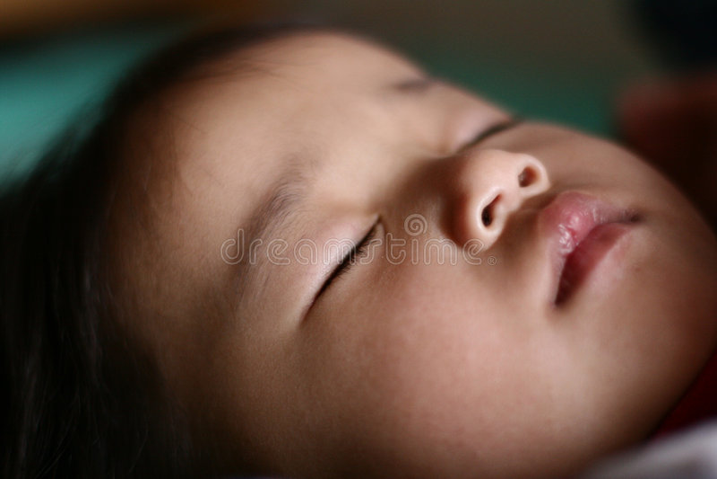 De slaap van het kind stock foto's