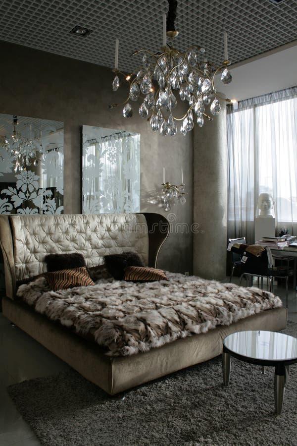 De slaapkamer van de luxe stock afbeelding. Afbeelding bestaande uit ...