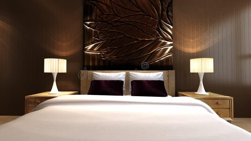 De slaapkamer van de luxe royalty-vrije illustratie
