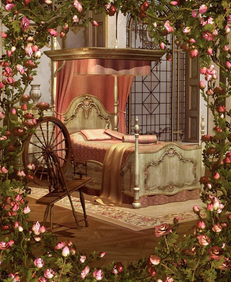 De Slaapkamer van de schoonheid vector illustratie