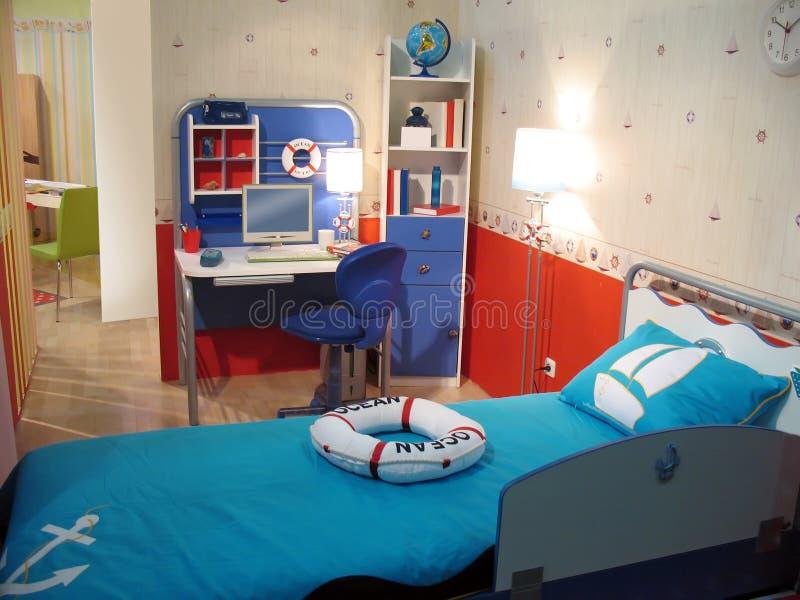 De slaapkamer van het kind stock afbeelding. Afbeelding bestaande ...