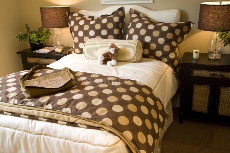 De slaapkamer van jonge geitjes royalty-vrije stock fotografie