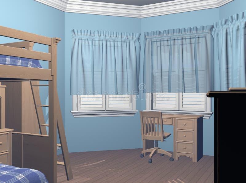 De Slaapkamer van jongens stock illustratie. Illustratie bestaande ...