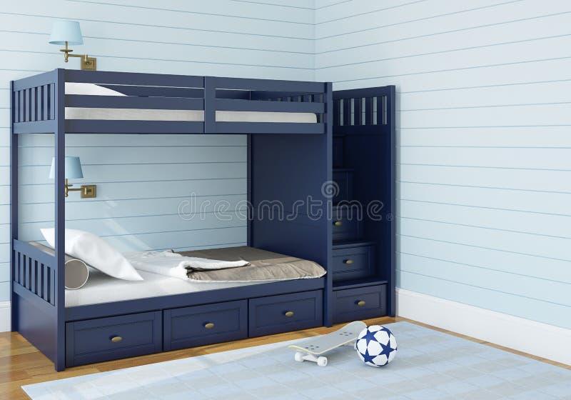 De slaapkamer van kinderen vector illustratie