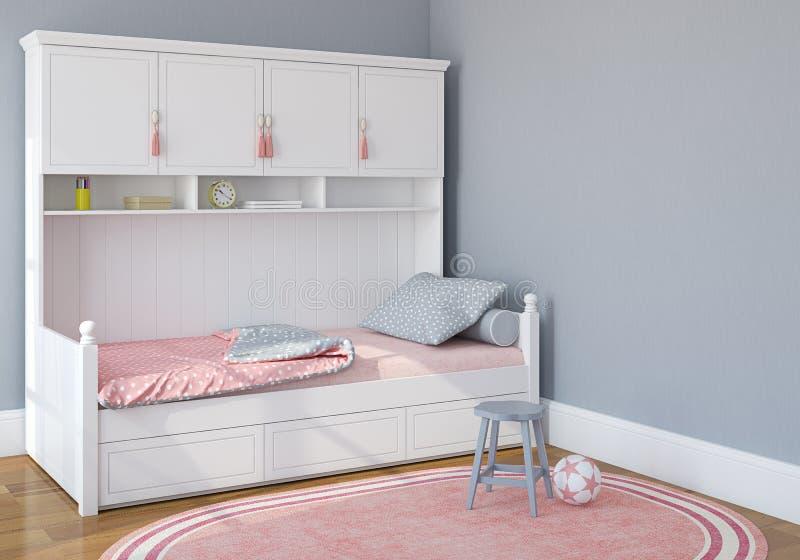 De slaapkamer van kinderen stock illustratie. Illustratie bestaande ...