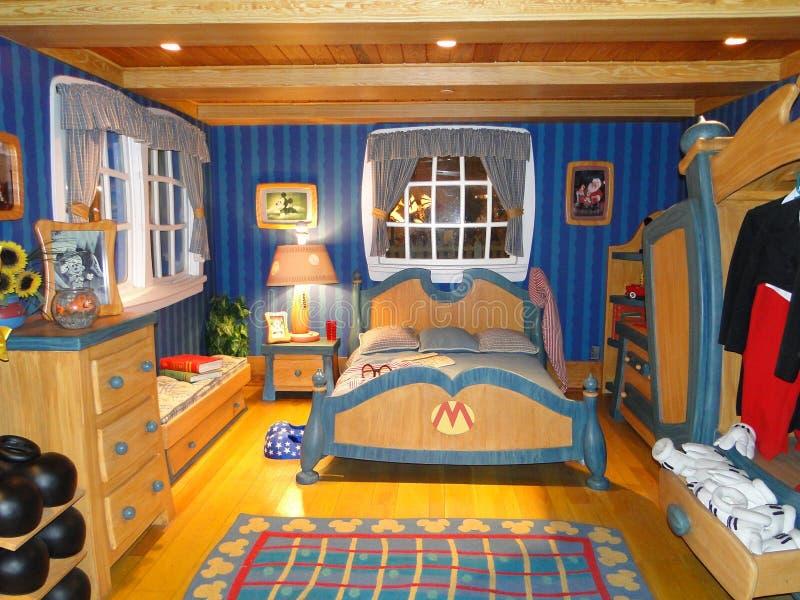 De Slaapkamer Van Mickey In Disneyworld Redactionele Fotografie ...