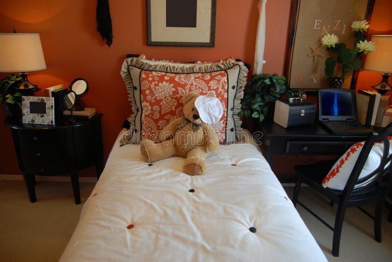 De slaapkamer van tieners stock foto