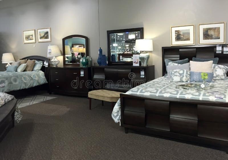 De slaapkamermeubilair van Nice het verkopen stock afbeeldingen