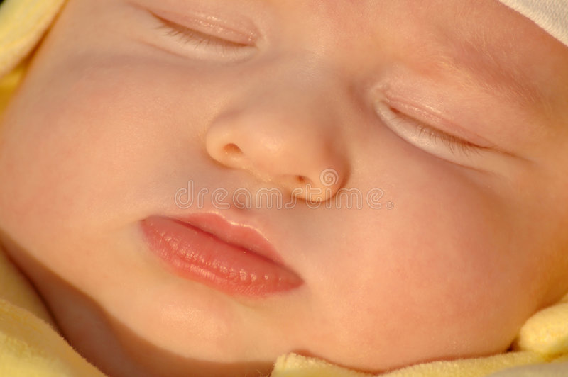 De slaapkind van het portret stock fotografie