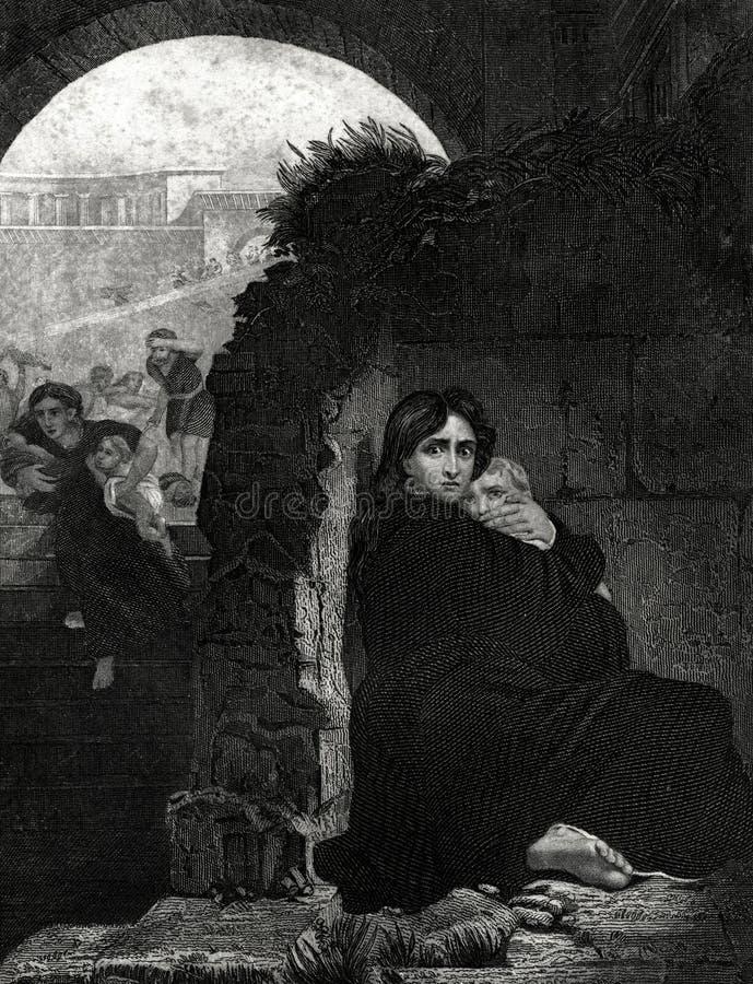 De Slachting van de Onschuldigen Antieke Illustratie stock illustratie