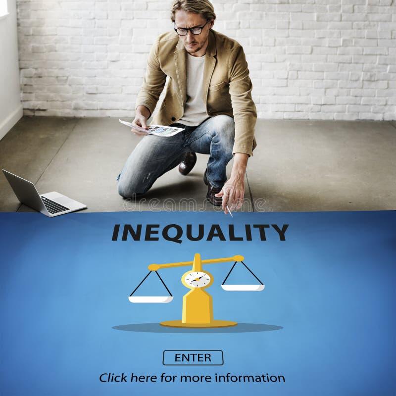 De Slachtoffers van de ongelijkheidsonevenwichtigheid vooroordeel Bias Concept royalty-vrije stock fotografie