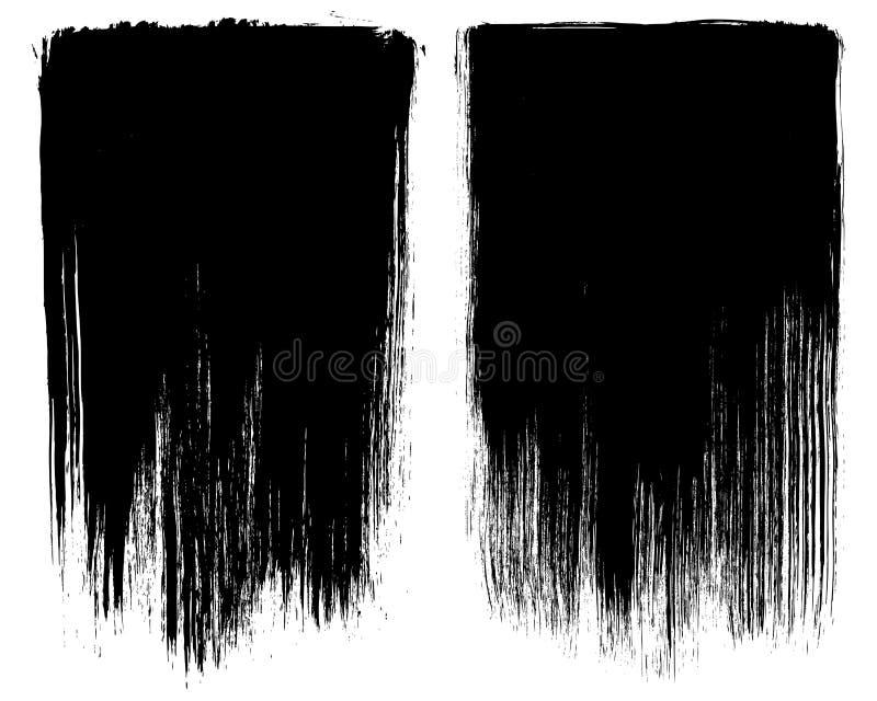 De slag van de Achtergrond grungeborstel kaders vector illustratie