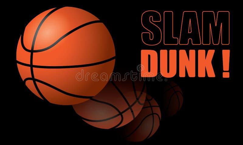 De Slag van het basketbal dompelt onder! stock illustratie