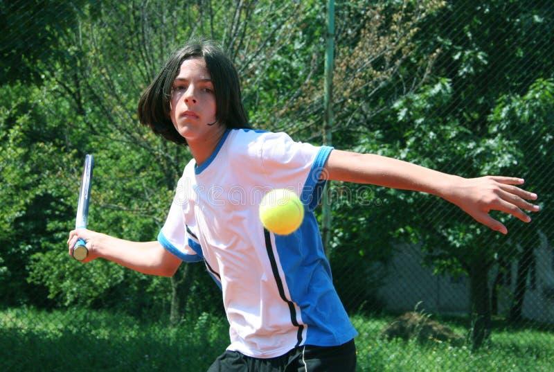 De slag van het tennis stock afbeelding
