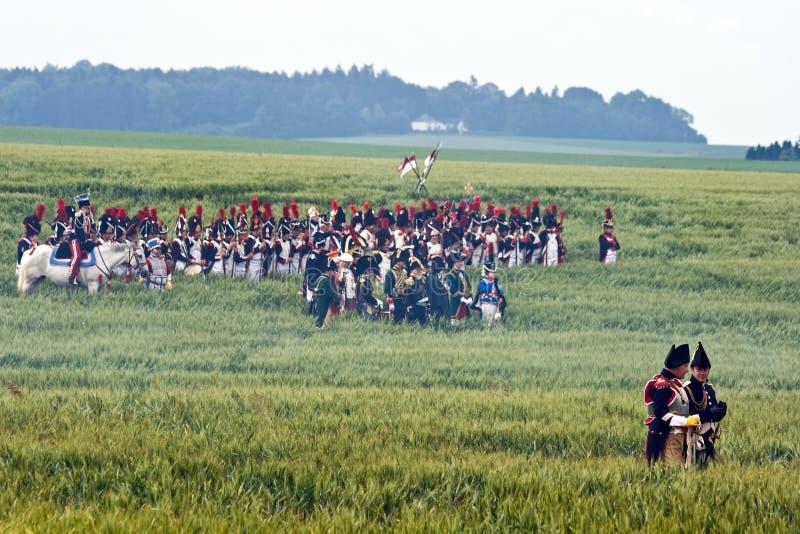 De Slag van het weer invoeren van Waterloo, België 2009 royalty-vrije stock afbeeldingen