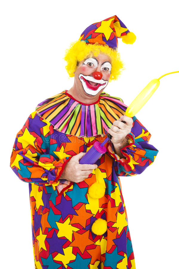 De Slagen van de clown - omhoog Ballon royalty-vrije stock foto