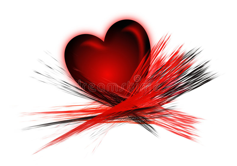 De Slagen van het hart en van de Borstel stock illustratie
