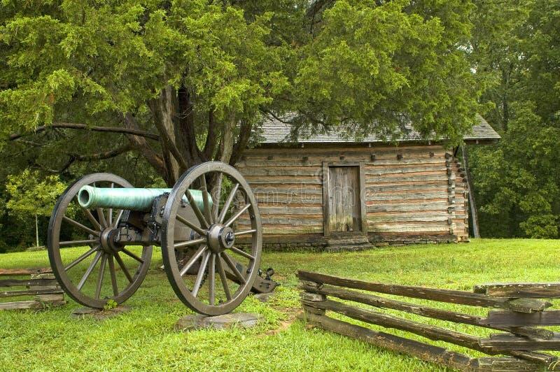 De slagscène van de Burgeroorlog royalty-vrije stock fotografie