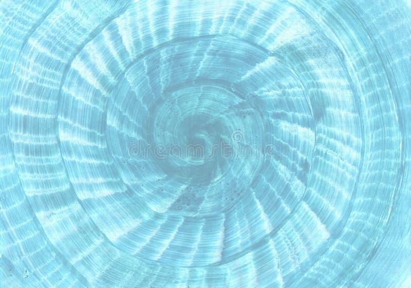 De slak gaf blauwe achtergrond gestalte Marine, overzees strand en cruisethema stock afbeeldingen