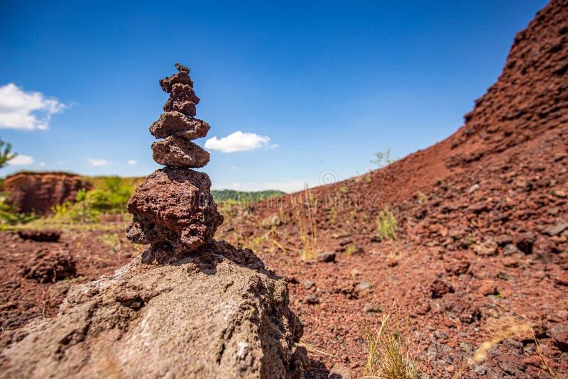 De slakken blijven van een uitgestorven vulcano stock foto