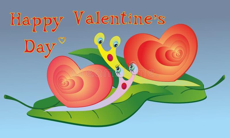De slakken van de liefde stock illustratie