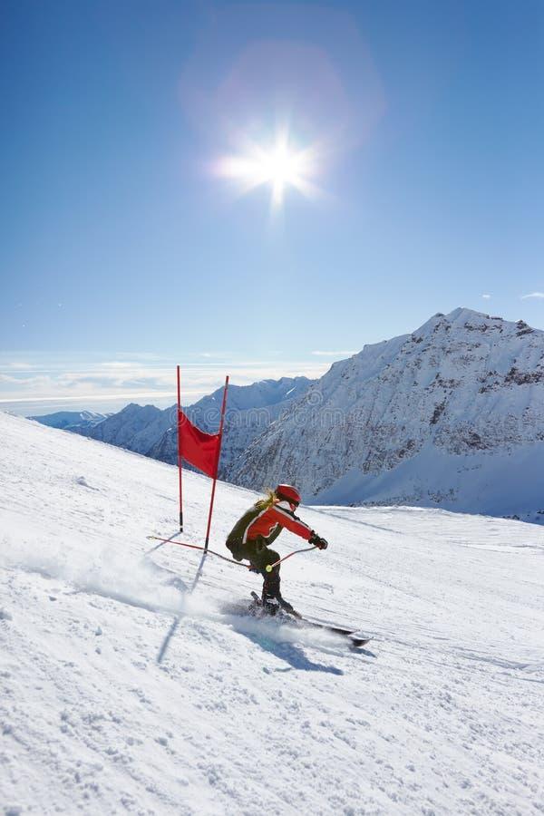 De slalom van de ski stock afbeelding