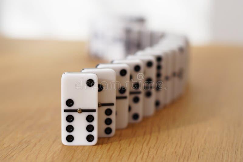 De slang van domino's stock afbeelding