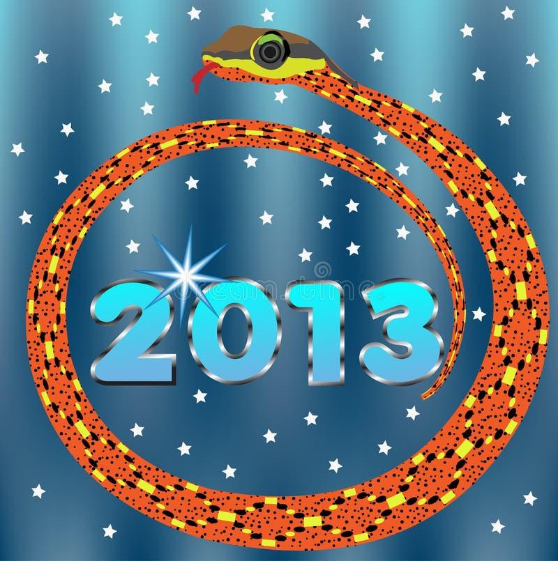 De Slang van het nieuwjaar 2013. royalty-vrije illustratie
