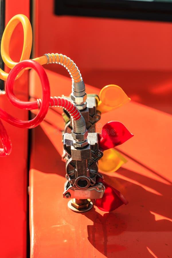De slangen van luchtverbindingen van machines stock fotografie