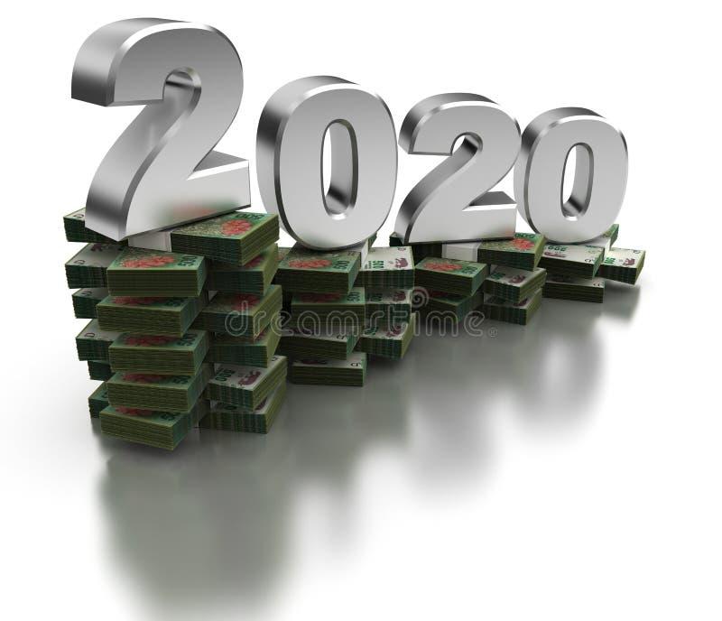 De slechte Economie 2020 van Argentinië royalty-vrije illustratie