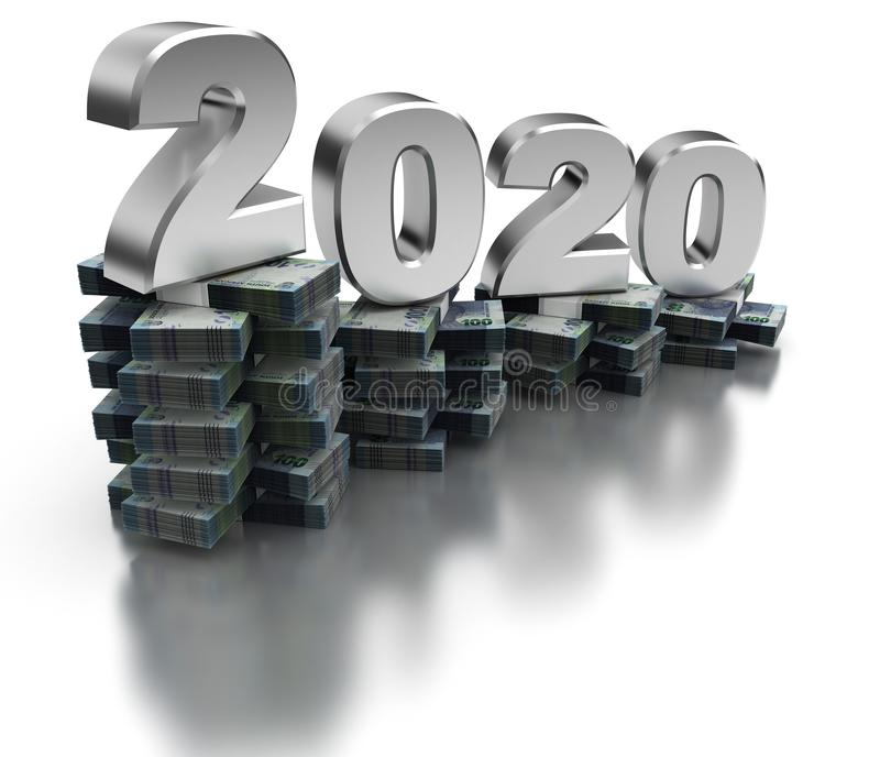 De slechte Economie 2020 van Zuid-Afrika stock illustratie