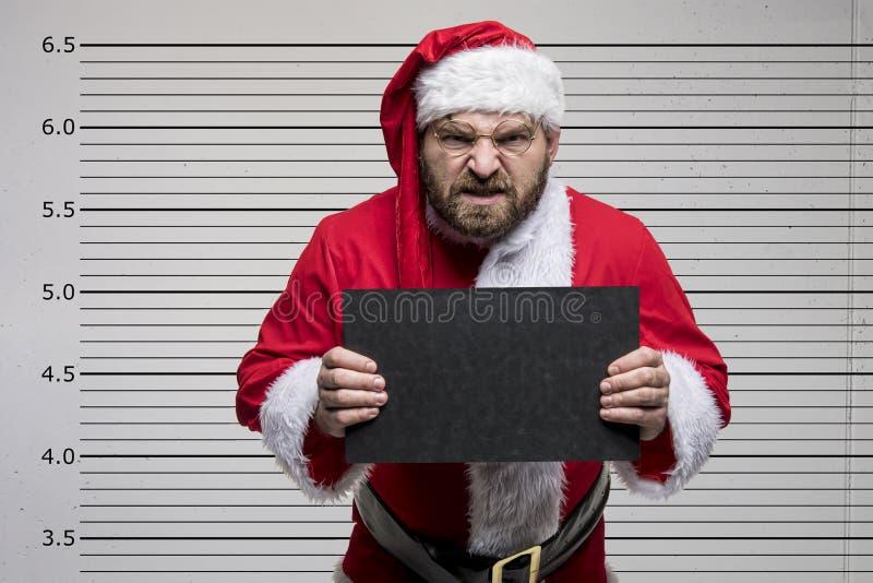 De slechte Kerstman royalty-vrije stock fotografie