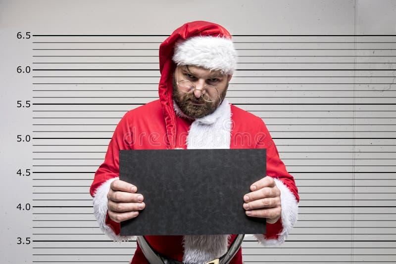 De slechte Kerstman royalty-vrije stock foto's