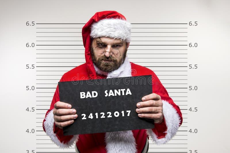 De slechte Kerstman stock foto's