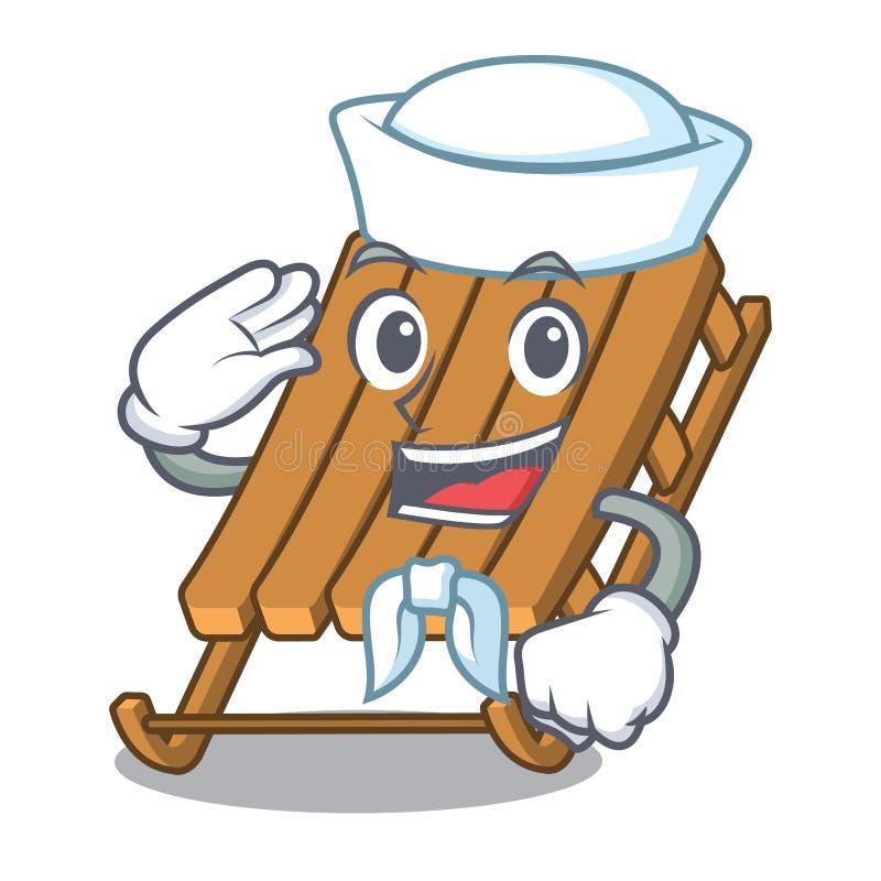 De slee van het zeemansijs in de mascottevorm vector illustratie
