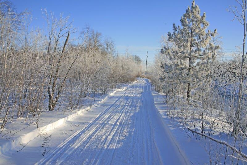 De sleep van de sneeuwscooter stock afbeeldingen