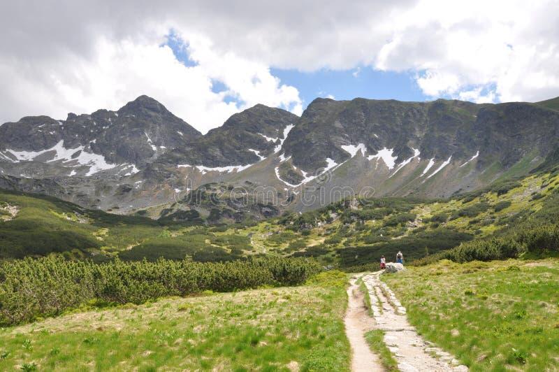 De Sleep van het Landschap van de berg stock foto's