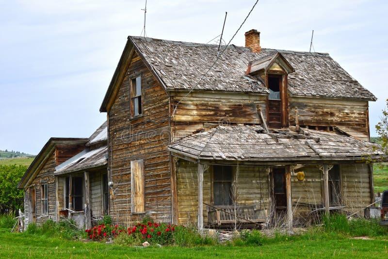 De sleep van Oregon, Vissentoevluchtsoord, Idaho, verlaten hoeve stock foto