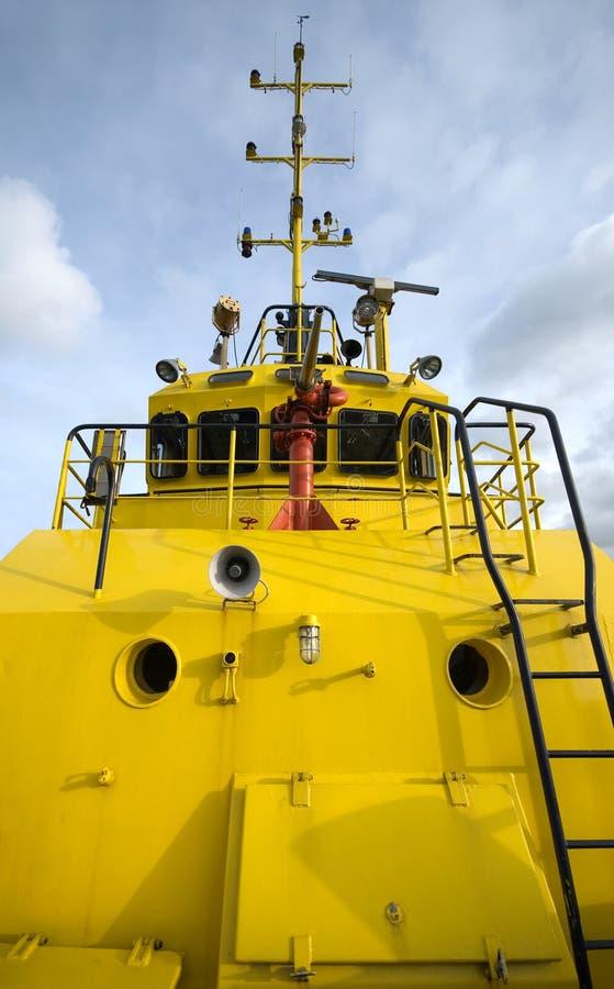 De Sleepboot van de brand stock foto