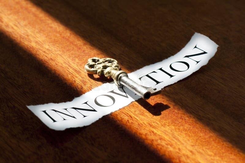 De sleutel tot innovatie stock afbeeldingen