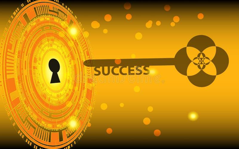 De sleutel tot succes stock illustratie