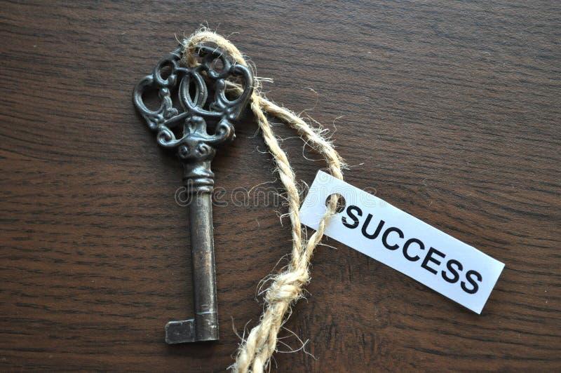 De sleutel tot succes stock foto